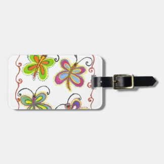 Girly Butterfly Bag Tag