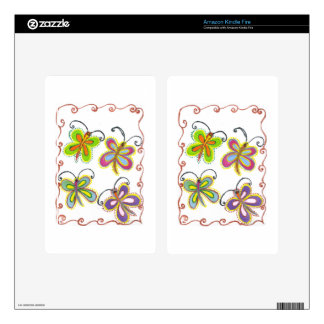 Girly Butterfly Decals For Kindle Fire