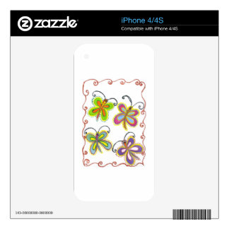 Girly Butterfly Decals For The iPhone 4