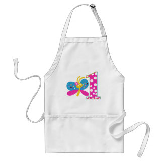 Girly Butterfly First Birthday Adult Apron