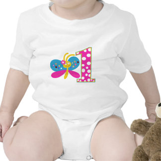 Girly Butterfly First Birthday Rompers