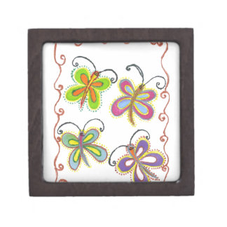 Girly Butterfly Gift Box