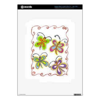 Girly Butterfly iPad 3 Skin