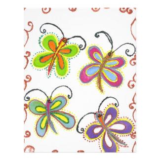 Girly Butterfly Letterhead
