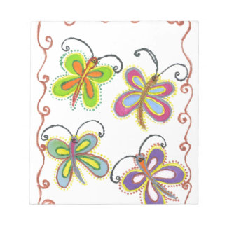 Girly Butterfly Memo Notepads