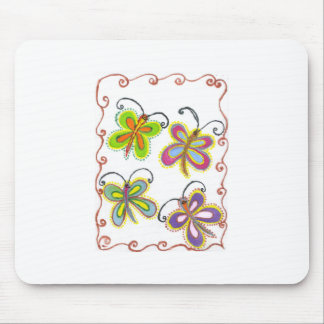 Girly Butterfly Mouse Pad