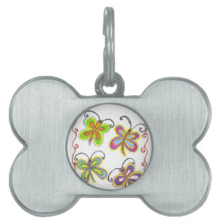 Girly Butterfly Pet Tag