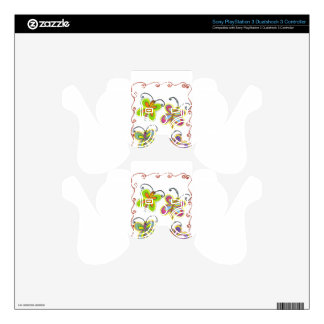 Girly Butterfly PS3 Controller Skins