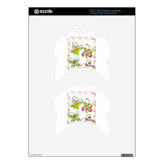 Girly Butterfly Xbox 360 Controller Skin
