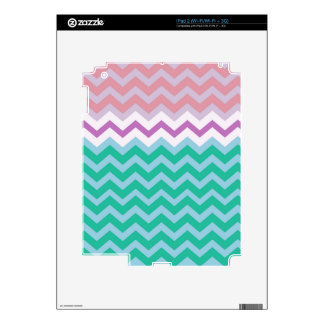 Girly Capped Chevron Design iPad 2 Skins