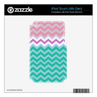 Girly Capped Chevron Design iPod Touch 4G Skins
