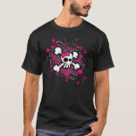 Girly Cartoon Skull T-Shirt