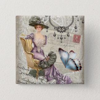 girly chandelier Vintage victorian Button