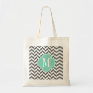 Girly Charcoal & Aqua Arrows Custom Tote Bag