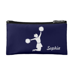 Girly Cheerleaders Night Out Cosmetic Bag Blue at Zazzle