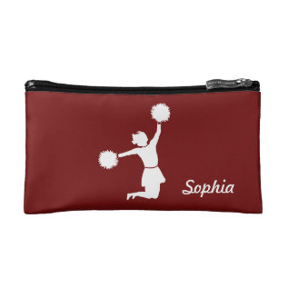 Girly Cheerleaders Night Out Cosmetic Bag Red at Zazzle