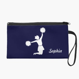 Girly Cheerleaders Night Out Wristlet In Blue