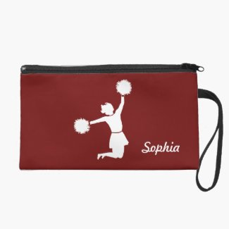 Girly Cheerleaders Night Out Wristlet in Red