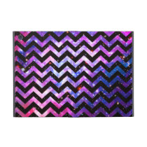 Girly Chevron Pattern Cute Pink Teal Nebula Galaxy iPad Mini Case