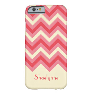 Girly Chevron ZigZag Stripes in Pink iPhone 6 Case