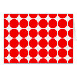 Girly Chic Accessories Party Treats Red Polka Dots Cards