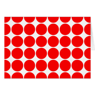 Girly Chic Accessories Party Treats Red Polka Dots Stationery Note Card