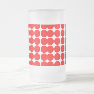 Girly Chic Accessories Party Treats Red Polka Dots Frosted Glass Beer Mug