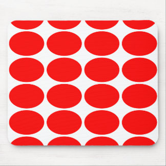 Girly Chic Accessories Party Treats Red Polka Dots Mousepads