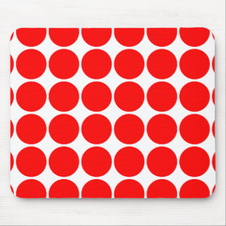 Girly Chic Accessories Party Treats Red Polka Dots Mouse Pads