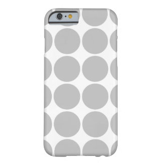 Girly Chic Accessory Party Treat Silver Polka Dots Barely There iPhone 6 Case