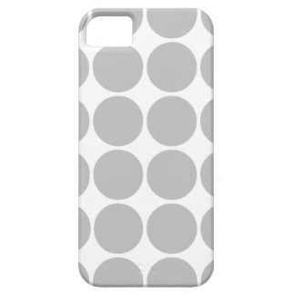 Girly Chic Accessory Party Treat Silver Polka Dots iPhone SE/5/5s Case