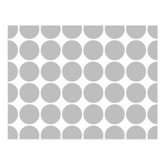 Girly Chic Accessory Party Treat Silver Polka Dots Postcard