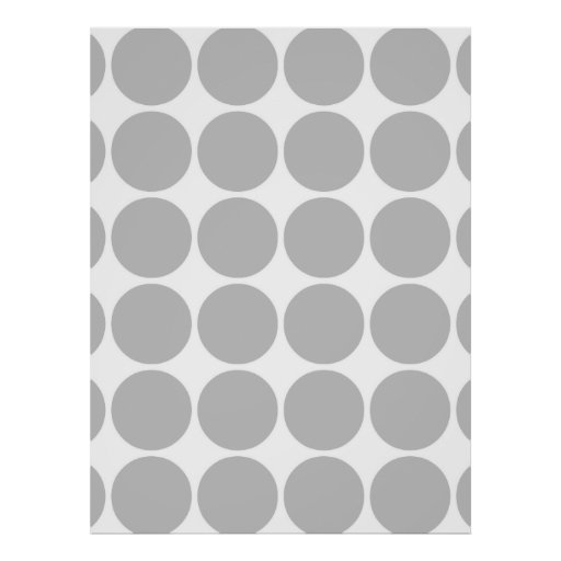 Girly Chic Accessory Party Treat Silver Polka Dots Posters