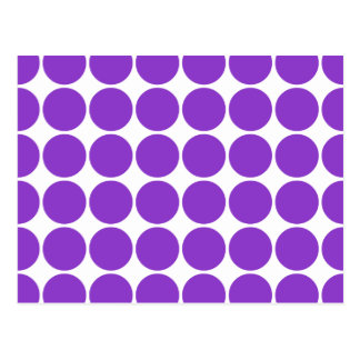 Girly Chic Accessory Party Treat Violet Polka Dots Postcard