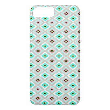 Aztec Themed Girly Chic Aztec Ikat Geometric Pattern iPhone 7 Plus Case