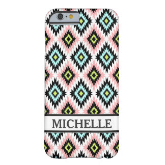 Girly Chic Aztec Pattern Persoanlized Name Barely There iPhone 6 Case