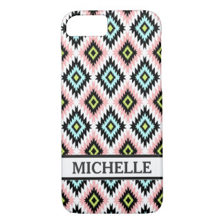 Girly Chic Aztec Pattern Persoanlized Name iPhone 8/7 Case