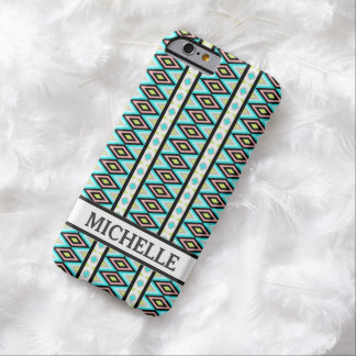 Girly Chic Aztec Pattern Persoanlized Name iPhone 6 Case