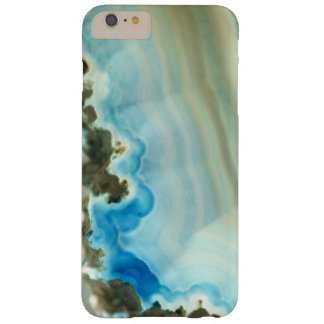 Girly Chic Blue Agate Geode Crystal Patterns Barely There iPhone 6 Plus Case