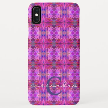 Girly Chic Boho Tribal Colorful Monogram iPhone XS Max Case