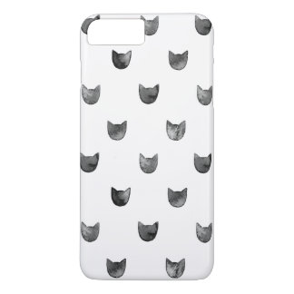 Girly Chic Cute Cat Pattern iPhone 7 Plus Case