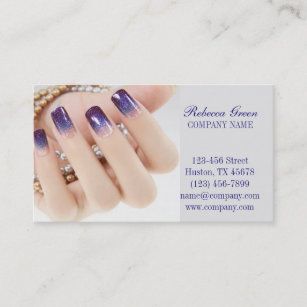 Manicure business cards zazzle girly chic elegant manicure nails nail salon business card colourmoves