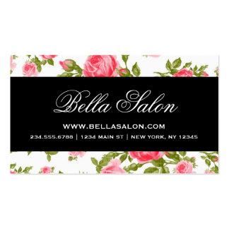 Girly Chic Elegant Vintage Floral Roses Business Card