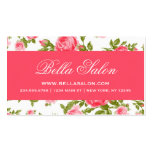 Girly Chic Elegant Vintage Floral Roses Double-Sided Standard Business Cards (Pack Of 100)