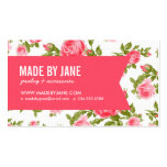 Girly Chic Elegant Vintage Floral Roses & Ribbon Double-Sided Standard Business Cards (Pack Of 100)