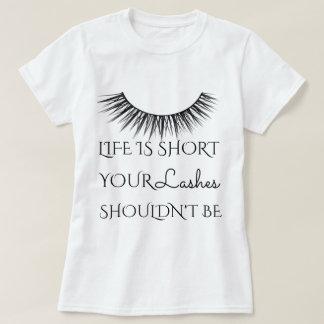 Girly Chic Eyelashes Design T-Shirt
