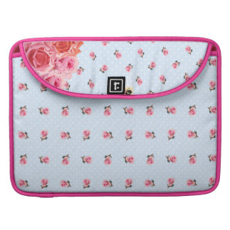 Girly chic floral french chair MacBook pro sleeves
