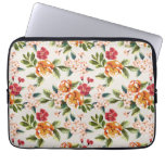Girly Chic Floral Pattern Watercolor Illustration Laptop Computer Sleeves