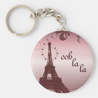 girly chic french country paris eiffel tower keychain