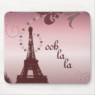 girly chic french country paris eiffel tower mouse pad